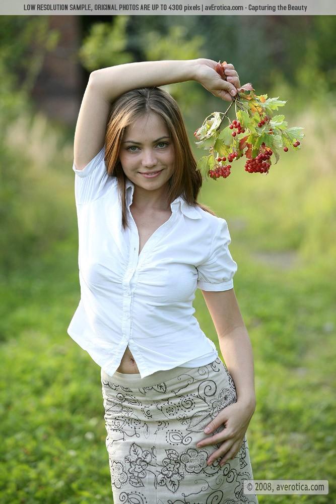 Julia shows off her berries