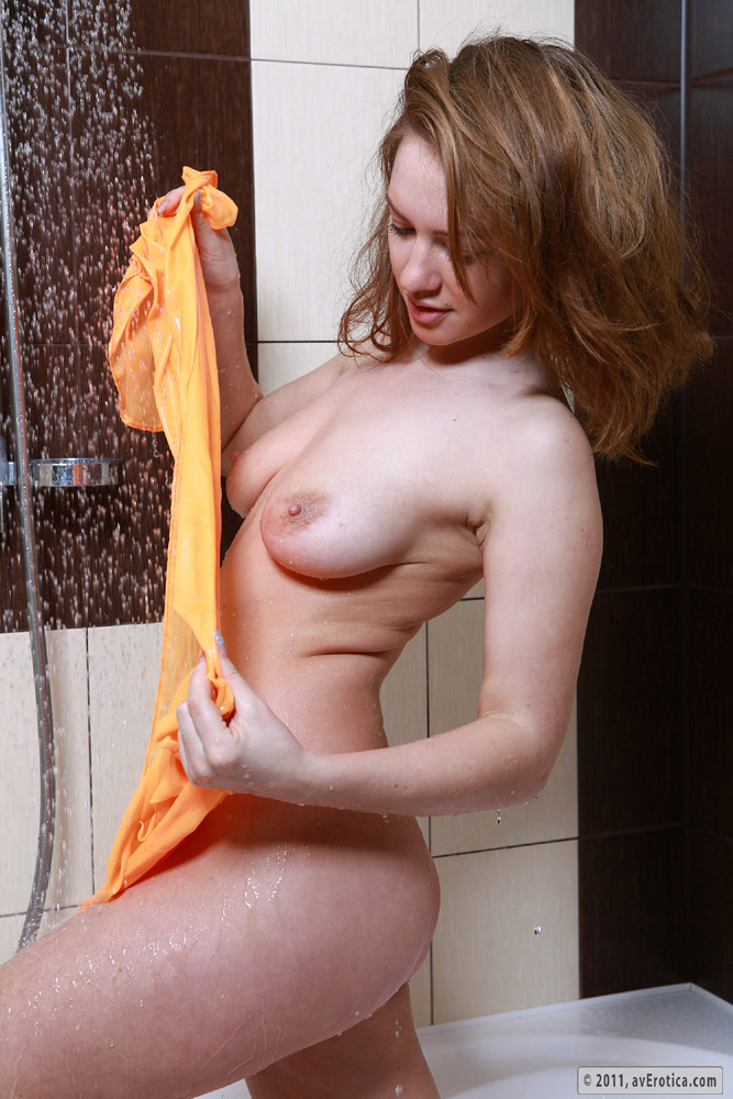 Sexy model Becca taking a bath