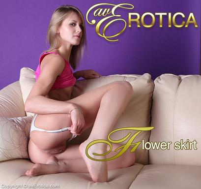 Skinny blondie with small boobs Sabrina takes off bikini revealing ass